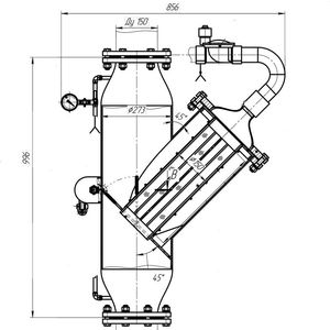 Фильтр ФПБ-11 пожарный самопромывной с байпасом