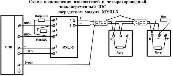 Схема подключения Артон ТПТ- к 4х проводной переменной линии