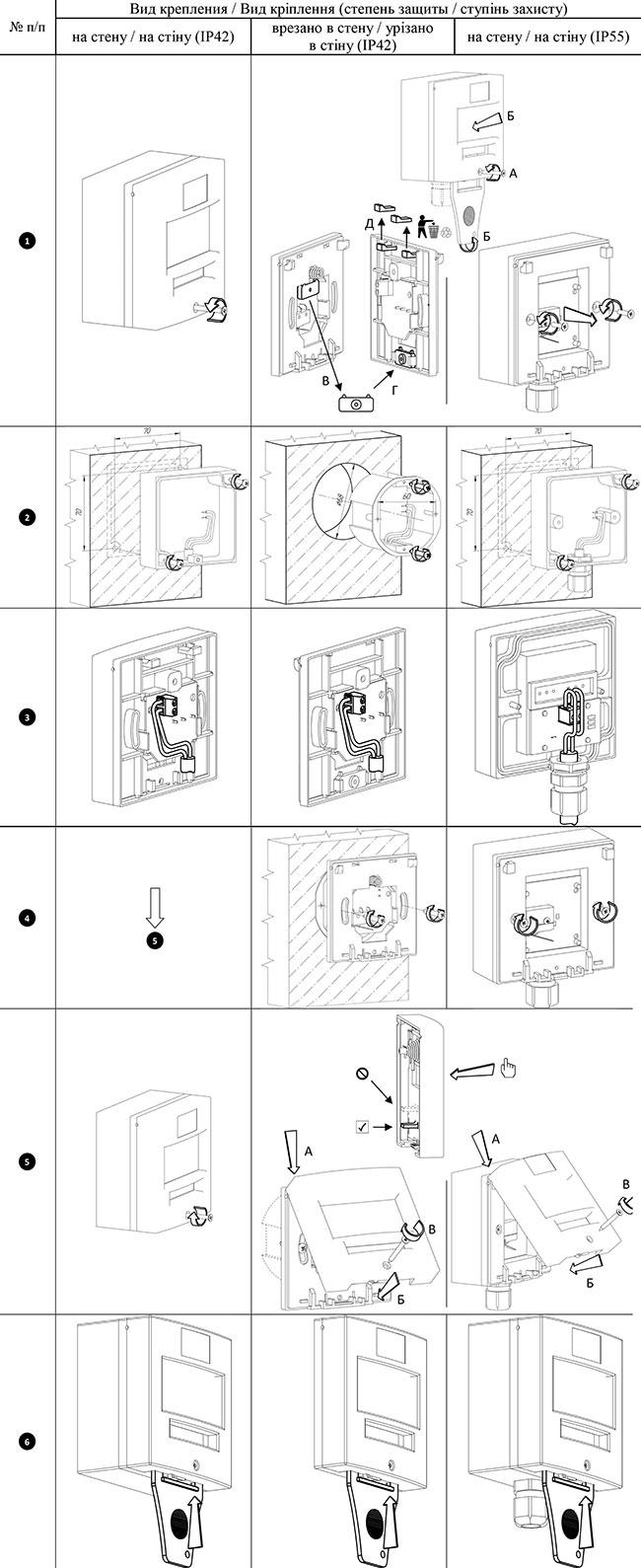 Схема монтажа ручного извещателя Омега СПРА