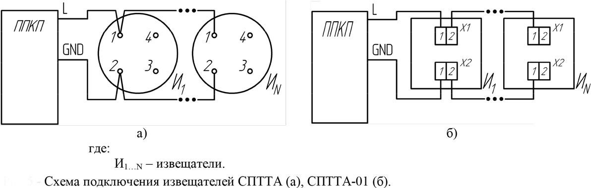 Схема подключения Омега СПТТА, СПТТА-01