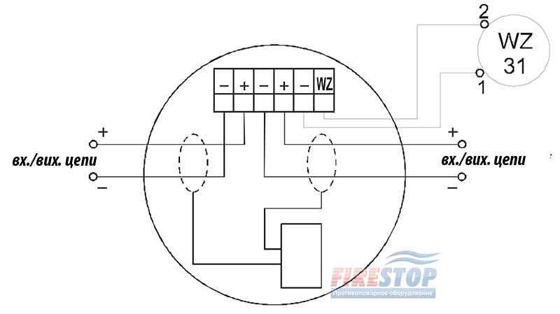 электрическая схема подключения dor4046